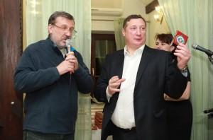 Гордеев и один из инициаторов создания ФКТРОИЦК, депутат городской думы Александр Васелёнок