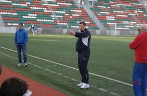 Тренерский штаб команды (слева направо): Алексей Кадетов, Александр Гордеев, Владимир Леонтьев