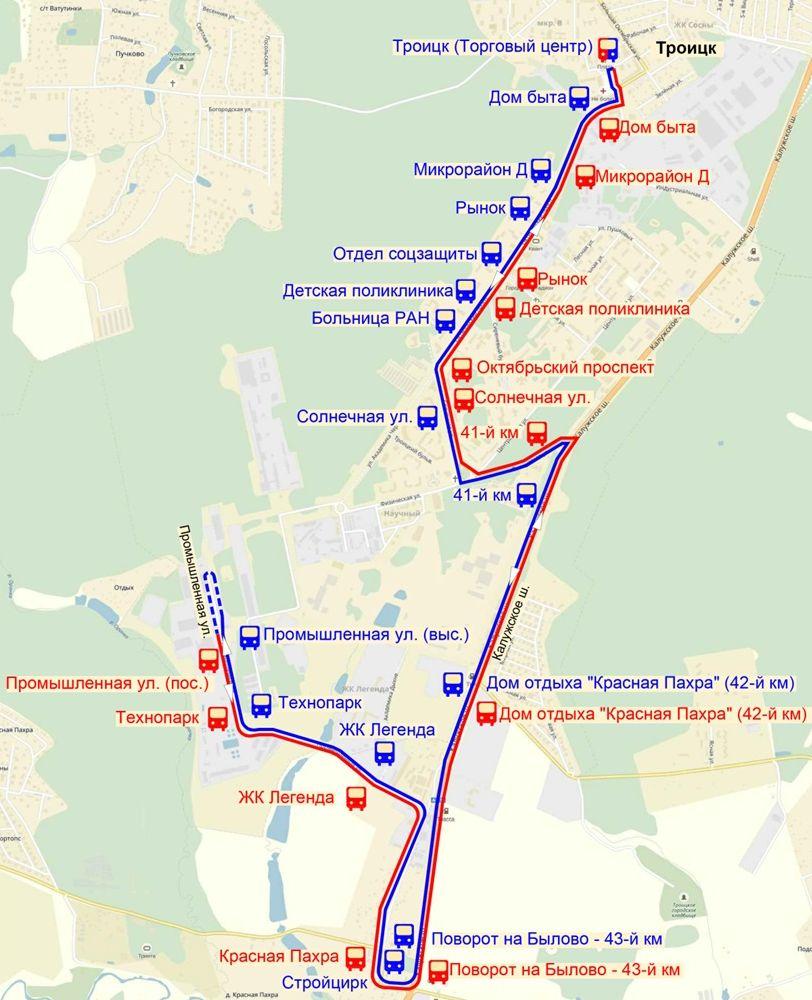 Какие маршруты автобусов начнут работать в Троицке в 2018 году?